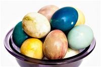 Natural egg dyeing