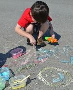Sidewalk paint East Coast Mommy