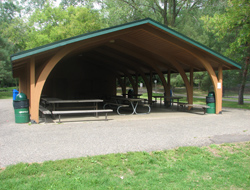 it contains two rentable picnic shelters foundation shelter and lions shelter with full kitchens and bathrooms this portion of central park includes a