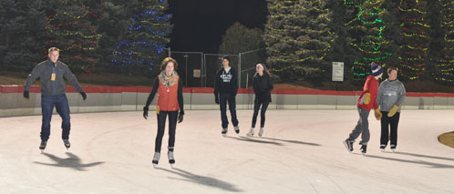 Ice skating at the OVAL