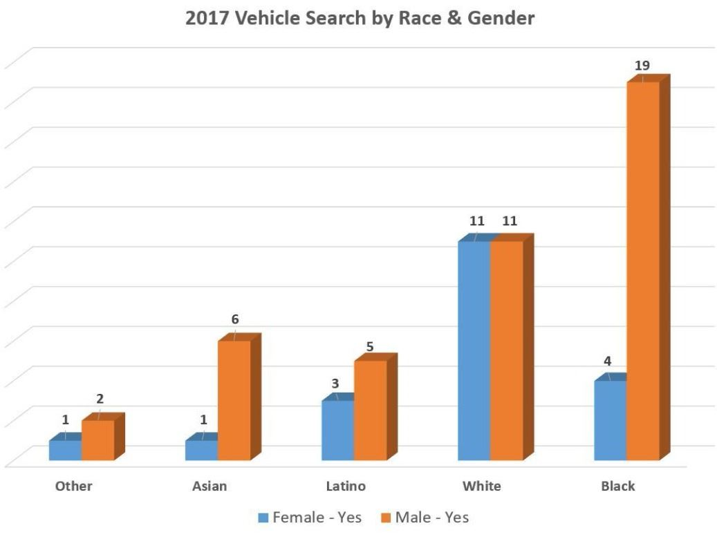2017 Vehicle Search by Race & Gender