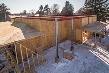 Cedarholm Community Building Construction