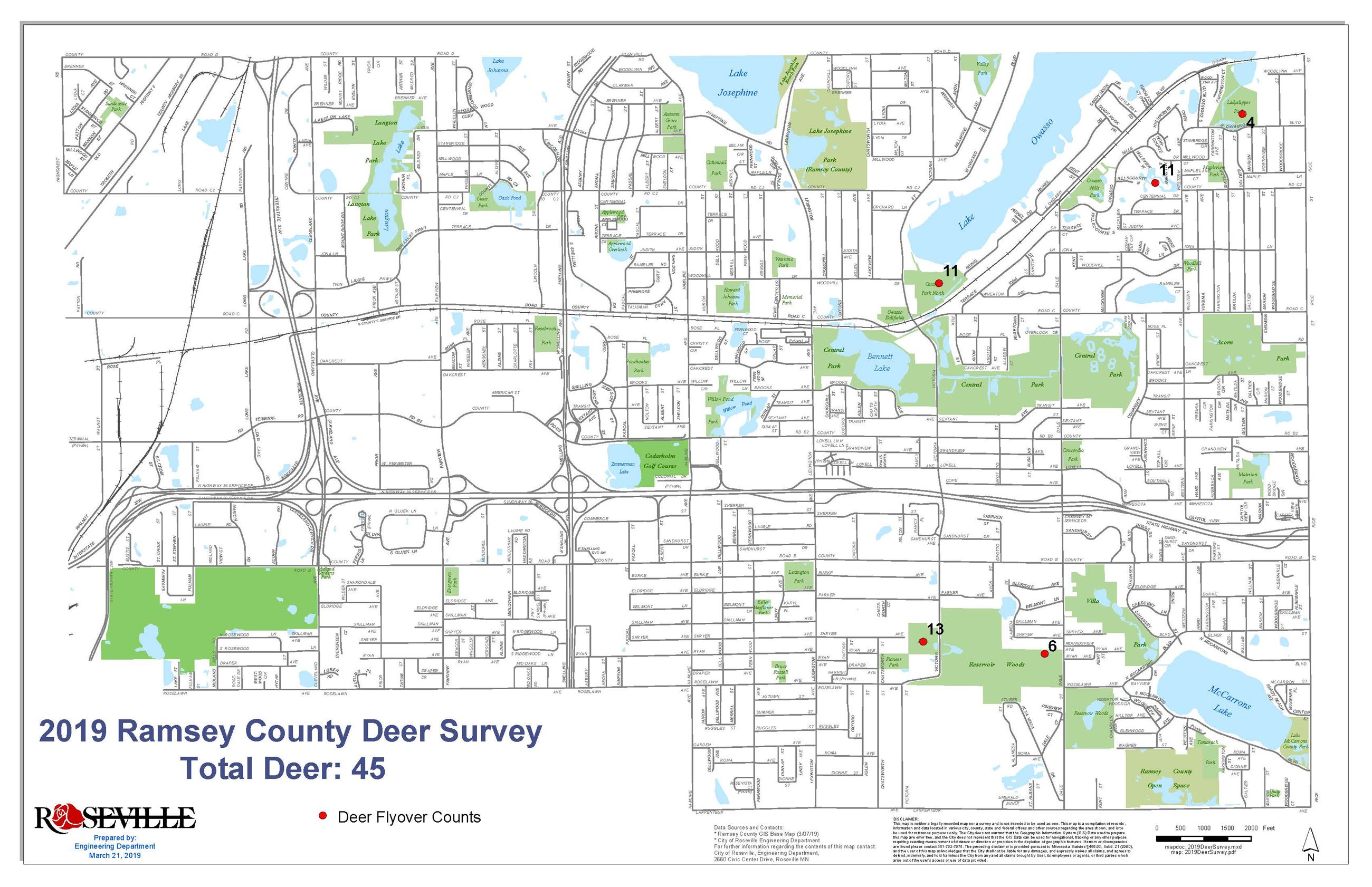 2019 Ramsey County Deer Survey (Roseville)