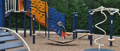Cool new playground equipment